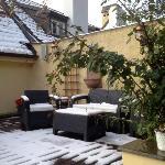 terrasse avec vue sur Prague
