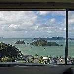 Russell and Motumaire Island from the room, looking NE