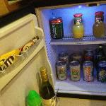 wll stocked mini fridge -with price list