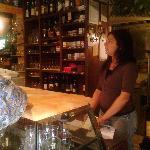 the wine bar and Monika