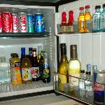 Fully stocked refrigerator.