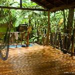 Yoga Studio at The Jungle House vacation rental on the beach in Playa Santa Teresa Costa Rica.