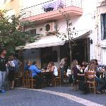 """The Green Horse"" in the pedestrian zone of Heraklion"