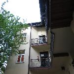 My room on the left through the door on the top floor