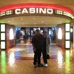 Entrance to Harrah's KC casino