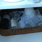 Wine and wine glasses covered in dust