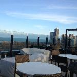View from roof-top bar