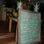 Everything on Chalkboard menu is 8000 colones