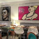 Pop painting at 2nd floor