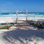 Our ceremony set up on Cabanas Tulum's Beach