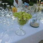 The open bar on the beach at our wedding