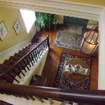 Looking down to foyer