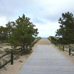 Walkway to ocean at Ferry Beach