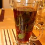 Hot tea with fresh mint - so good !!