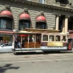 Cable cars go by all day