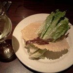 Most Amazing Caesar Salad in Parmesan Disc