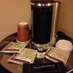 cuisinart pod coffee maker :) royal king room, 12th floor