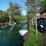 The pleasant walk along Via Lepanto beside the canal