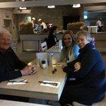 Wendy, Ken and Amanda in the restaurant