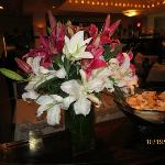 Asian lilly floral arrangement