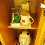 Kettle and complimentary drinks