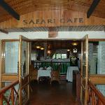 At the door of the dining place - 'Safari Cafe'