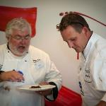 Planning new dishes with Master Chef Alan Dixon
