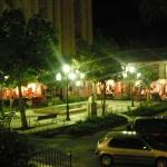 Ole Square at night.