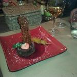 Dessert chocolat amandes