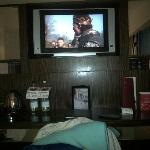 the biggest tv in the hotel are in the junior suit