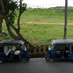 Trishaws outside the guesthouse