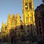 Coucher de soleil sur l'Eglise St Jacques