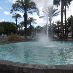 One of the fountains in the town centre