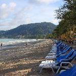 view of Patong Beach (5 minute walk from hotel)