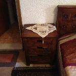 bed table in bedroom