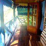 The porch on our spacious Island Suite