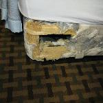 Queen Size Bed with roadent damage. HEALTH HAZARD!