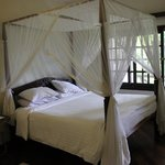 Romantic four poster bed