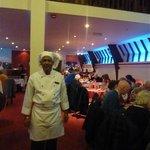 Big welcome from the chef Mafiz Ali