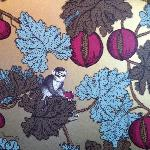 Monkey wallpaper in one of the dining rooms
