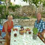 Fresh breakfast on the terrace