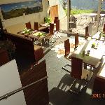 """Das """"Stüberl"""" - auch als Frühstücksraum genutzt, mit Terrasse"""
