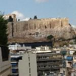 Day view of the Acropolis fro our balcony