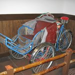 Rickshaw inside the restaurant