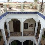 The beautiful Riad Charlott' from the roof terrace