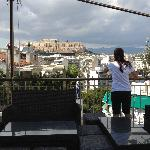 Day view of Acropolis from roof garden