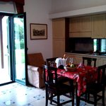 Cucina - soggiorno nella Suite