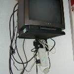 Dated Tv, with some excellent dodgy wiring, surely health & safety hazard