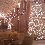 Amazing holiday display in lobby