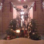 Nutcracker display in lobby